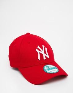 Кепка с регулируемым ремешком New Era 9Forty NY - Красный