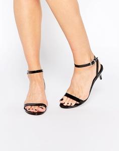 Босоножки на каблуке ASOS HONEYDEW - Черный лакированный