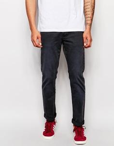 Окрашенные после пошива черные джинсы слим Pepe Jeans Grove - Выбеленный черный