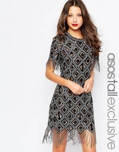 Коктейльное платье с пайетками ASOS TALL Premium - Черный