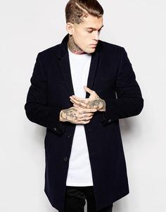 Шерстяное пальто Religion - Темно-синий