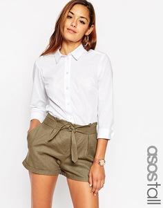 Белая рубашка с рукавами 3/4 ASOS TALL - Белый