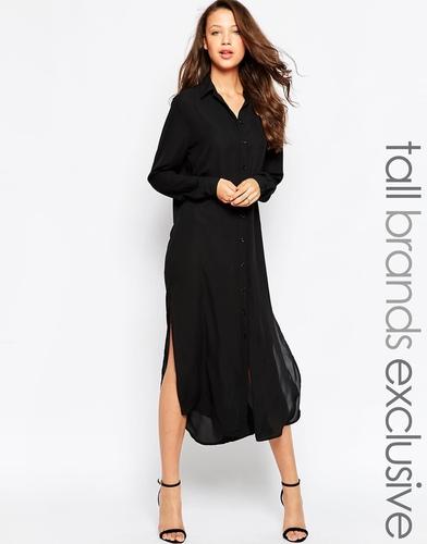 Платье-рубашка миди TTYA - Черный
