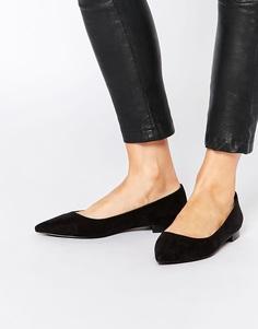 Балетки с заостренным носком ASOS LOST - Черный