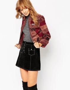 Кожаная куртка в стиле пэчворк ASOS - Мульти