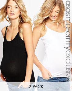 Набор из 2 маек для кормящих мам ASOS Maternity -