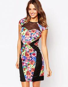 Платье с цветочным принтом Amy Childs Serena - Мульти