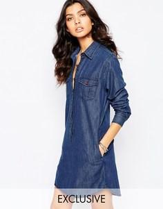 Джинсовое платье-рубашка Reclaimed Vintage - Синий