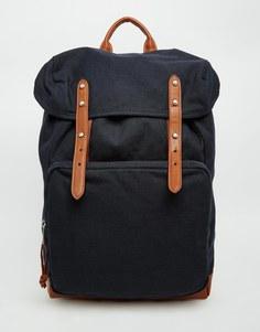 Рюкзак с контрастными ремешками ASOS - Темно-синий