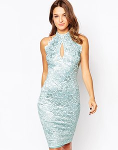 Кружевное платье миди Amy Childs Misha - Синий