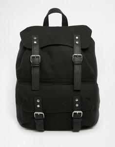 Элегантный холщовый рюкзак черного цвета ASOS - Черный