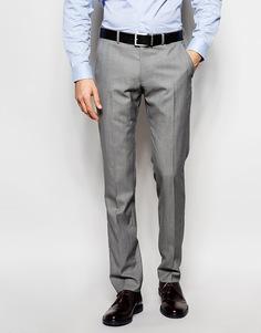 Однотонные брюки из смесовой шерсти Ben Sherman - Серый