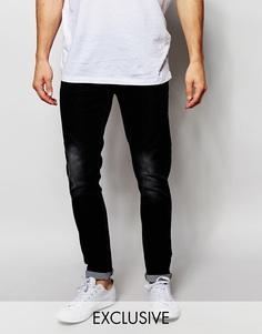Выбеленные черные джинсы скинни Liquor & Poker - Выбеленный черный
