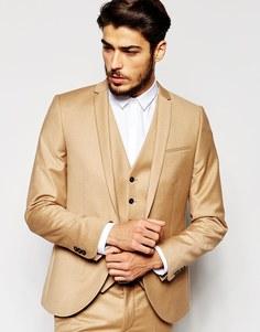 Фланелевый пиджак скинни Noak - Кэмел