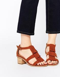 Босоножки на каблуке для широкой стопы ASOS TREASURE - Рыжий