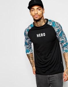 Удлиненная футболка с рукавами 3/4 Hero's Heroine - Черный