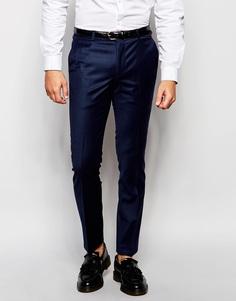 Шерстяные брюки скинни Heart & Dagger - Темно-синий