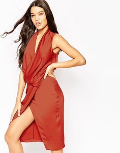Платье миди ASOS - Красно-бурый
