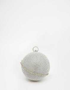 Декорированный клатч в форме шара ALDO - Серебряный
