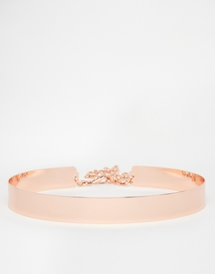 Узкий металлический пояс ASOS - Розовое золото