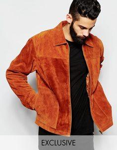 Замшевая куртка в стиле 70-х Reclaimed Vintage - Рыжий
