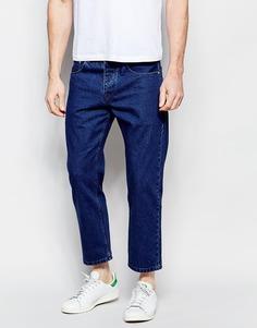 Укороченные прямые джинсы ASOS - Темный синий