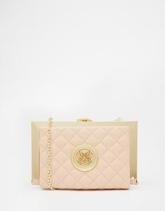 Стеганый светло‑розовый клатч Love Moschino - 600 бледно-розовый