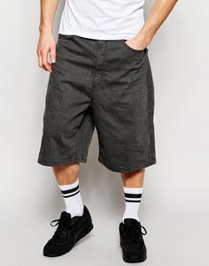 Серые джинсовые шорты с широкими штанинами ASOS - Умеренный серый