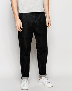 Черные выбеленные прямые джинсы с защипами ASOS - Выбеленный черный