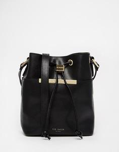 Кожаная сумка‑мешок с ручкой Ted Baker Pop Up - Черный