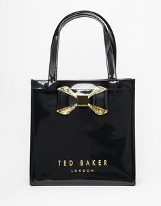 Сумка с небольшим логотипом и хрустальным бантом Ted Baker - Черный