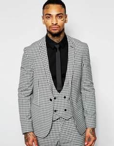 Облегающий пиджак в клетку Religion - Угольный