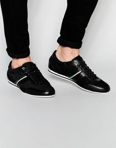 Кроссовки с полосками Boss Green Victula - Черный