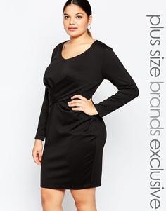 Облегающее платье с длинными рукавами Carmakoma - Черный