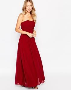 Платье-бандо макси Y.A.S Molly - Баклажанный