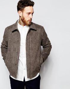 Шерстяная куртка в клетку Paul Smith Jeans - Серый