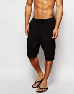 Черные шорты для плавания с заниженным шаговым швом ASOS - Черный