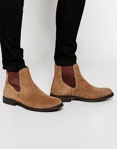 Замшевые ботинки челси Jack & Jones - Бежевый