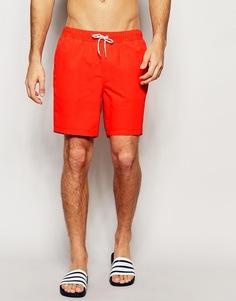 Красные шорты для плавания средней длины ASOS - Красный