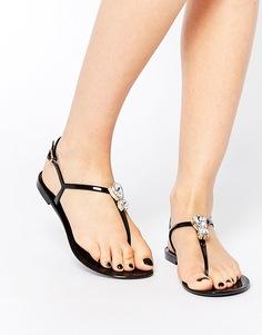 Силиконовые сандалии с камнями ASOS FABULOUS - Черный