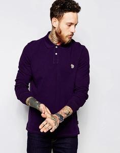 Поло классического кроя с длинными рукавами Paul Smith Jeans - Фиолетовый