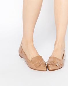 Лакированные туфли на плоской подошве Dune - Рыжий