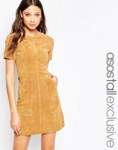 Замшевое платье‑трапеция ASOS TALL - Рыжий