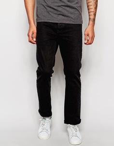 Черные прямые стретчевые джинсы ASOS - Черный