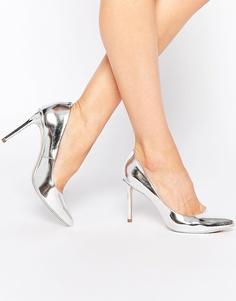 Серебристые кожаные туфли-лодочки Ted Baker Laorel - Серебряный