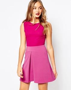 Платье с юбкой-трапецией Closet - Розовый