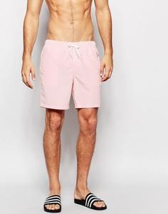 Розовые шорты для плавания средней длины ASOS - Светло-розовый