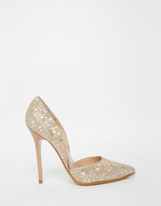 Туфли-лодочки на каблуке с золотистыми пайетками Steve Madden Varcity - Золотой многоцветный