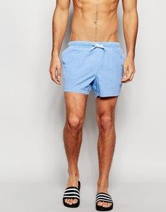 Короткие шорты для плавания синего цвета ASOS - Светло-голубой