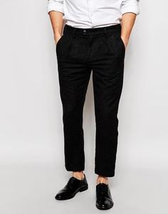Шерстяные повседневные брюки кроя слим ADPT - Умеренный серый